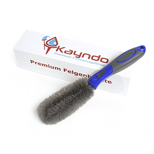 Kayndo Premium Felgenbürste – schonend gründliche Felgenreinigung Ihrer Stahl- und Alufelgen - Felgen Bürste Alufelgen - Felgenreinigungsbürste [Blau]