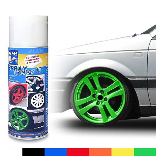 JOM Car Parts & Car Hifi GmbH 127127 Felgenfolie, Sprühfolie, abziehbarer Felgenlack, SprayCoater II grün 400ml