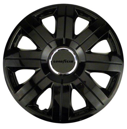 Goodyear 75512 Radzierblenden Flexo, Radkappen, 16 Zoll, schwarz, 4 Stück, flexibles Material, für den perfekten Alufelgen-Look