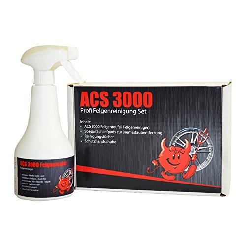 ACS 3000 Profi Felgenreinigungs-Set inkl Felgenteufel Felgenreiniger und Zubehör