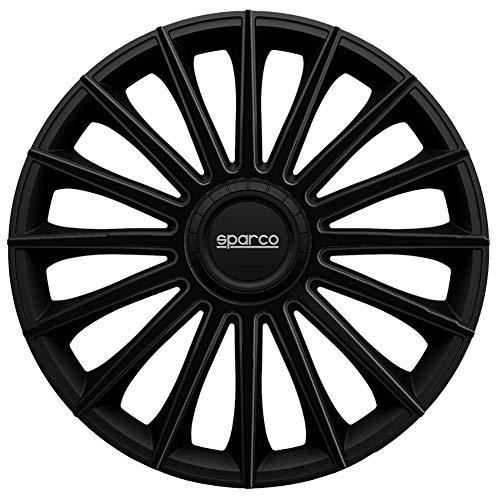 Satz SPC1692BK Sparco Radzierblenden Torino 16-Zoll Schwarz