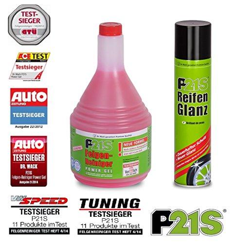 PRAKTISCHES PREMIUM SET P21-S Dr WACK 1L POWER GEL Felgenreiniger + 400ml Reifenglanz Reifenpflege Reifenschutz